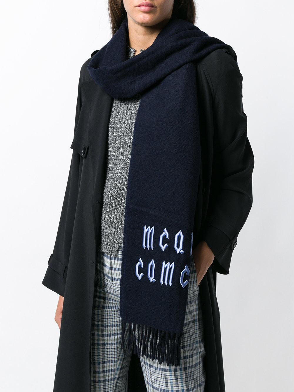 Scarf Mcqueen Mcq Repeat Logo Lyst Blue Alexander UPOqOTg