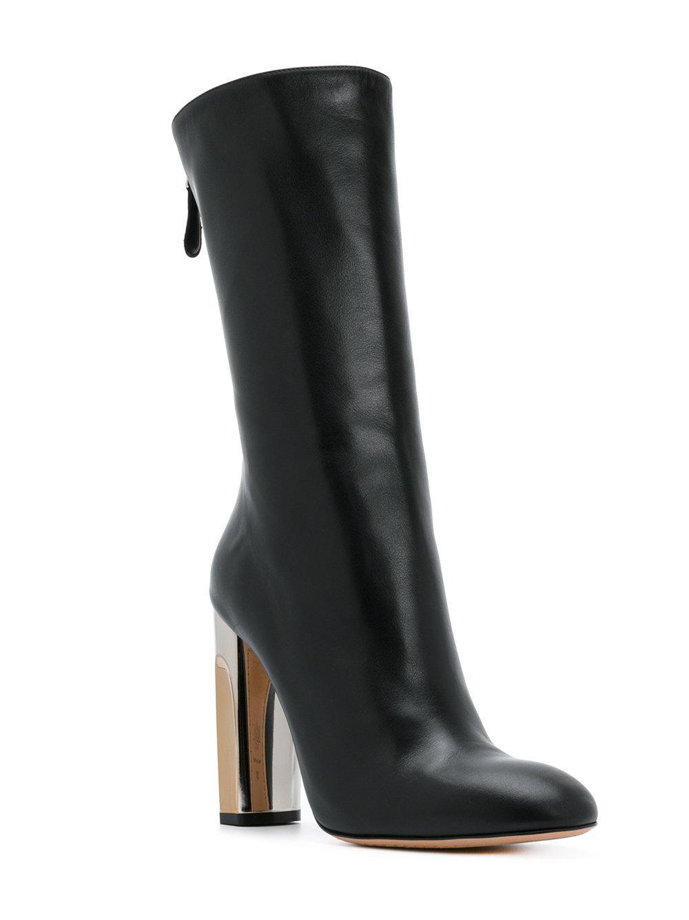 Fitted Mcqueen Alexander Sculpted Boots In Black Heel Lyst qIRAwxUU