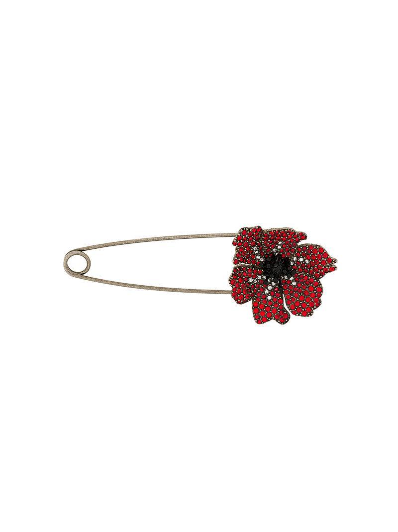 Sonia Rykiel embellished anemone pin - Metallic gSXq8vxV7