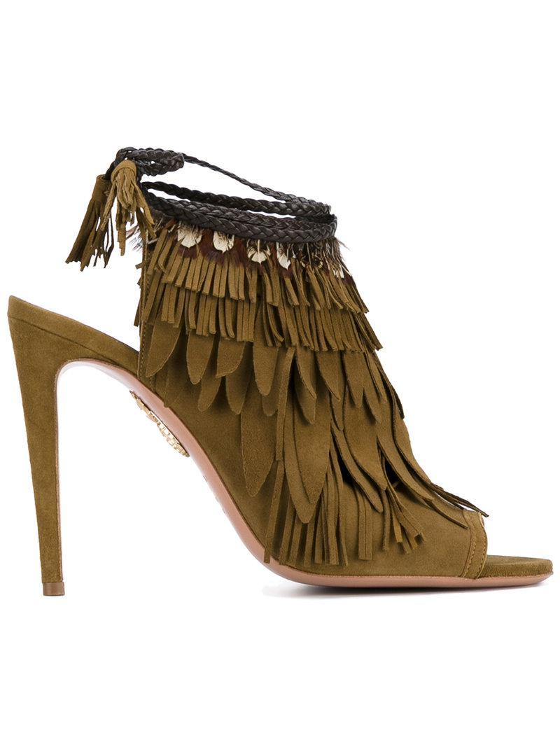 Aquazzura Pocahontas High-Heel Sandals best seller cheap price sKOZSKed