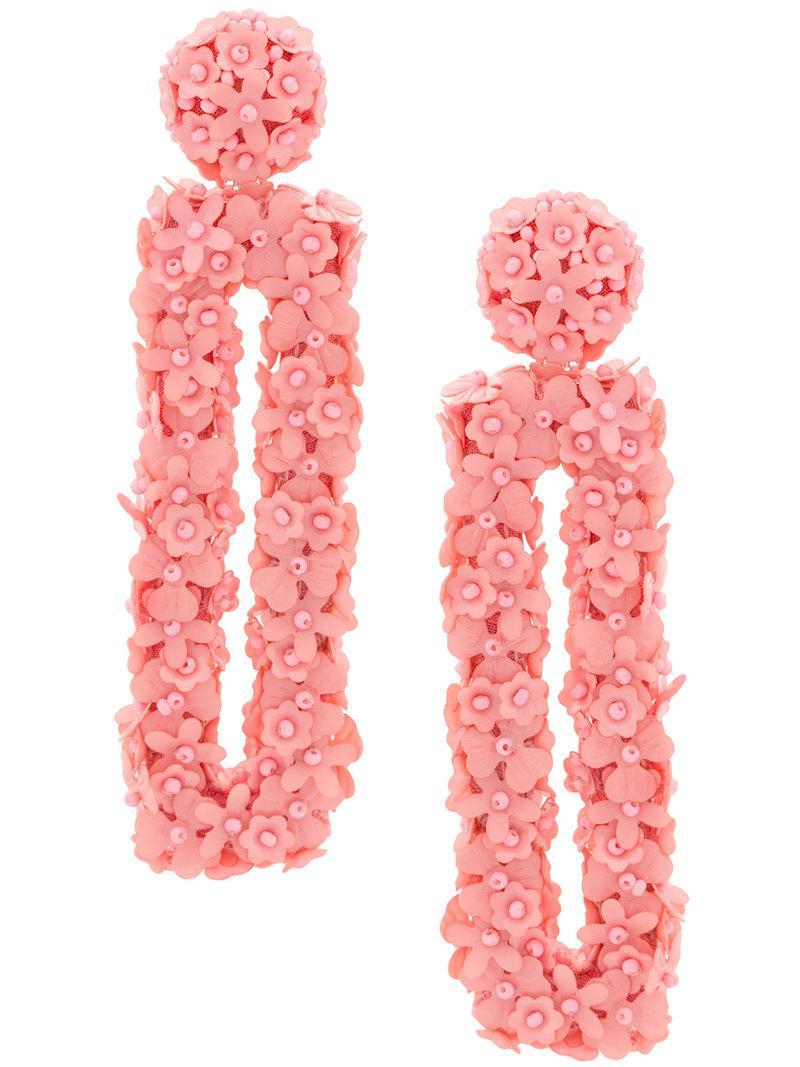 Sachin & Babi Fleur Dawn earrings - Pink & Purple VzKgl