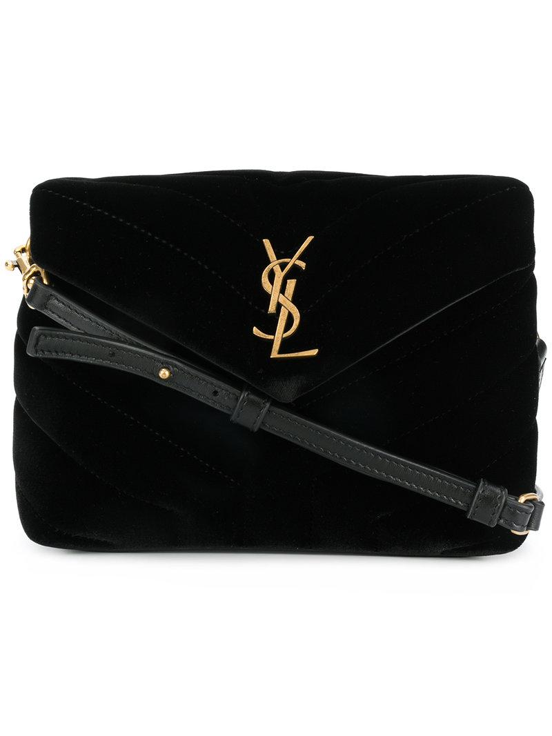 fae74224f166 Lyst - Saint Laurent Monogram Envelope Bag in Black - Save 42%
