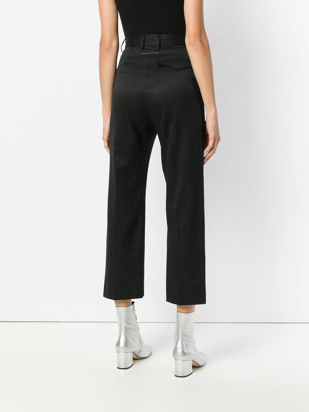 tailored cropped trousers - Black Maison Martin Margiela NBYz2y6jI