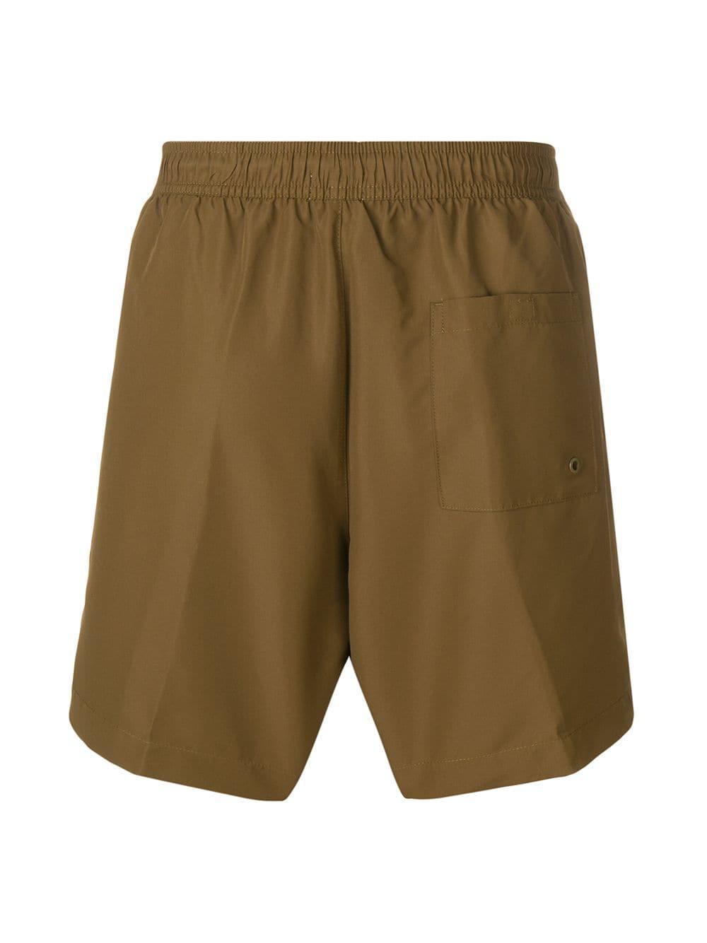 57b473ff76bde Calvin Klein Logo Swim Shorts in Green for Men - Lyst
