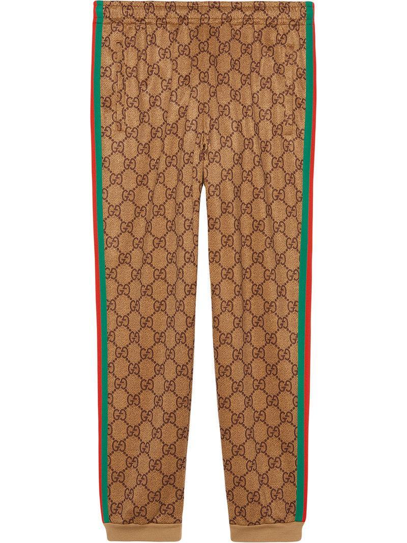 910772c011b34 Lyst - Pantalon de jogging à motif GG Gucci pour homme en coloris Marron