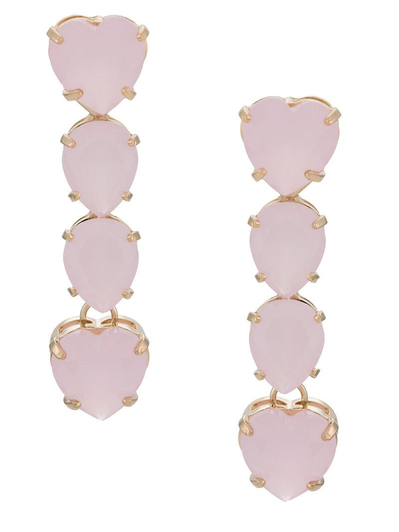 crystal embellished earrings - Metallic Serpui pFNTEU