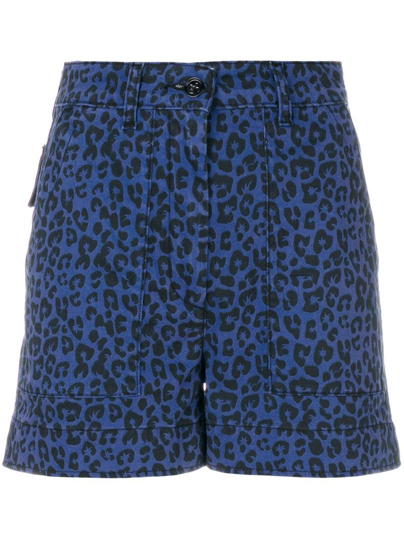 palm tree printed shorts - Blue The Upside
