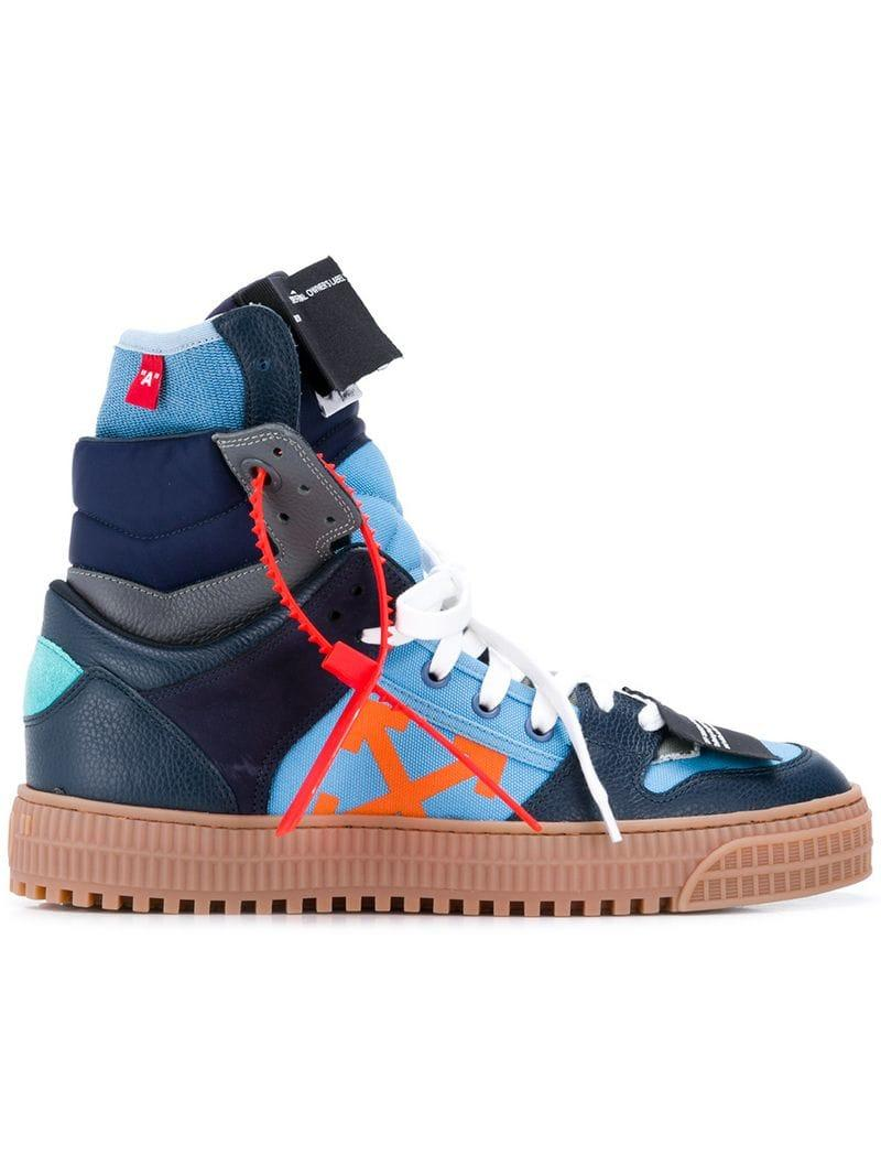 7797ad3a9b54 Off-White c o Virgil Abloh. Blue Men s Off Court Suede leather High-top  Trainers
