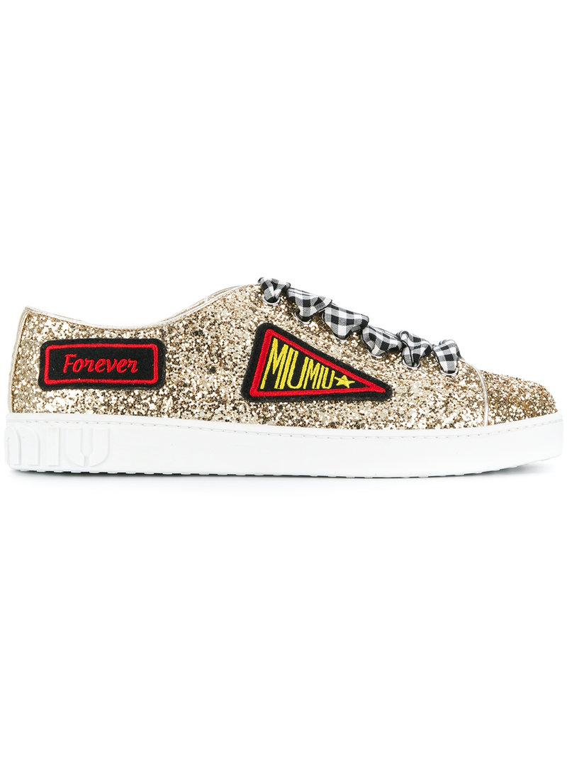 Miu Miuglittered captoe sneakers