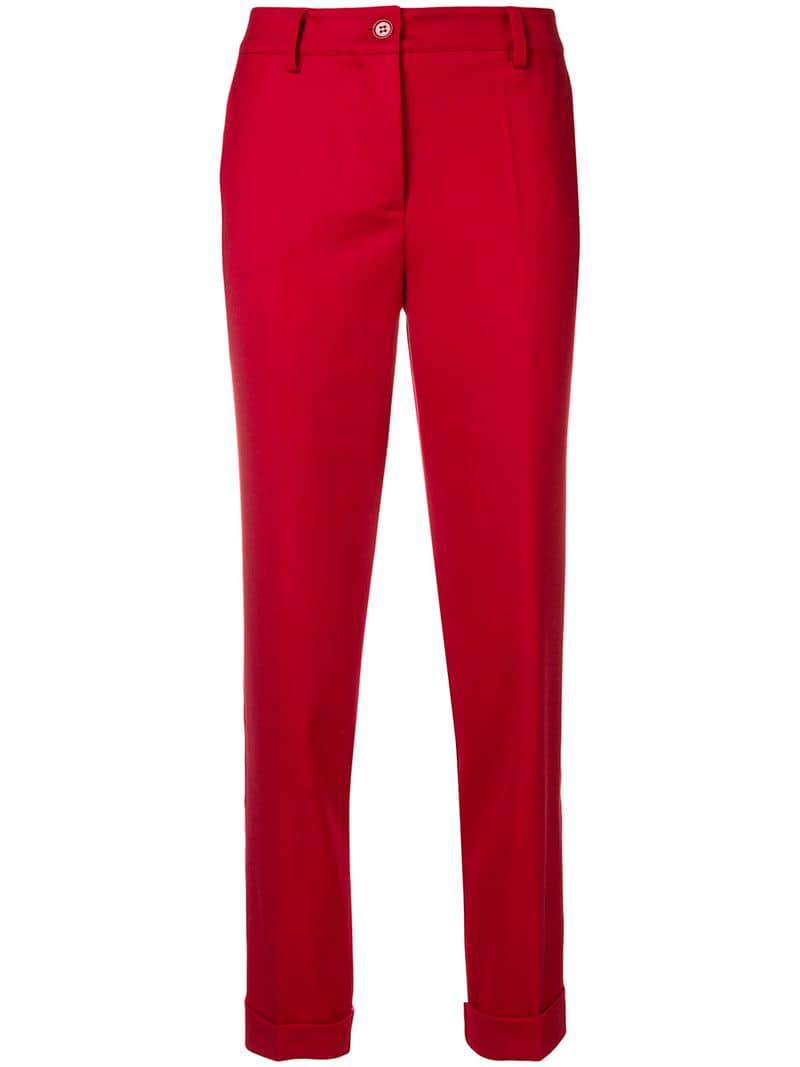 Trousers o s a In r Lyst P hTailored Red PXukZi