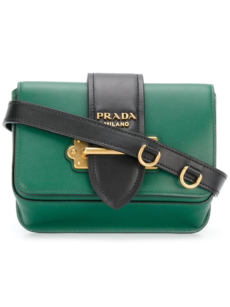 b6905c8e4c Prada Cahier Convertible Belt Bag in Green - Lyst