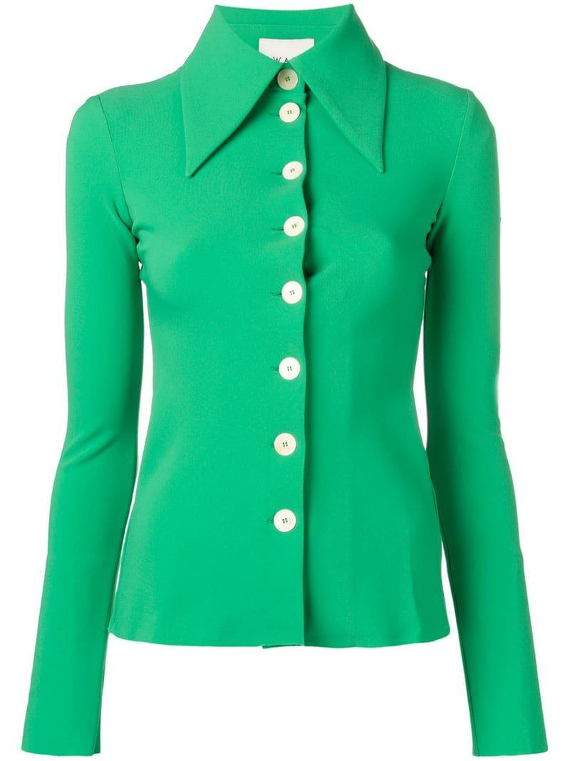 c9529fbbc7b44a Awake Oversized Collar And Buttons Shirt in Green - Lyst
