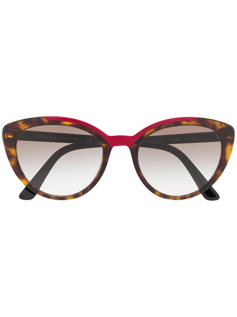 478ecb41ce56 Prada Cat-eye Sunglasses in Brown - Lyst