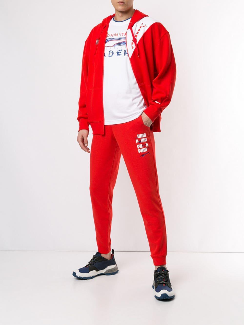 18ea198dedca Lyst - PUMA Printed Track Pants in Red for Men