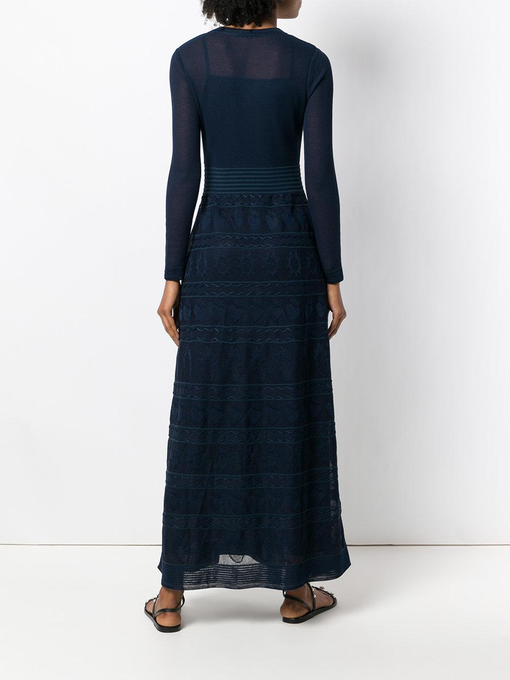 long fantasy dress - Blue M Missoni Eioboh7
