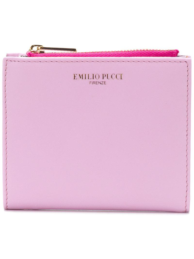 logo stamp continental wallet - Pink & Purple Emilio Pucci