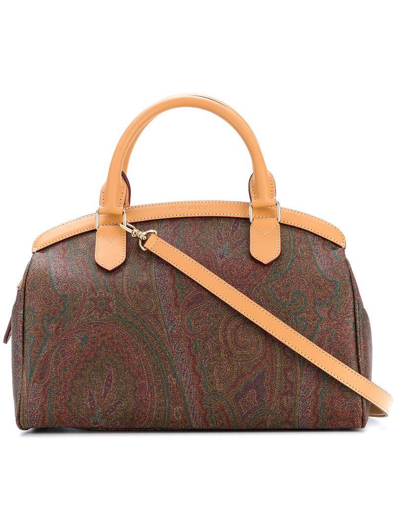 Cheap Sale Browse Etro paisley print bowling bag Best Store To Get Sale Online Sale Limited Edition nOA7h0D
