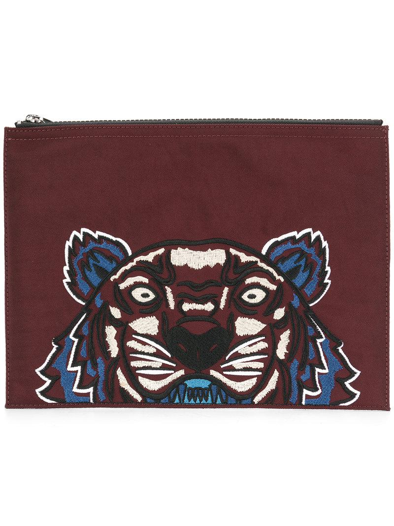 c47bc8d9 KENZO Tiger Clutch in Red - Lyst