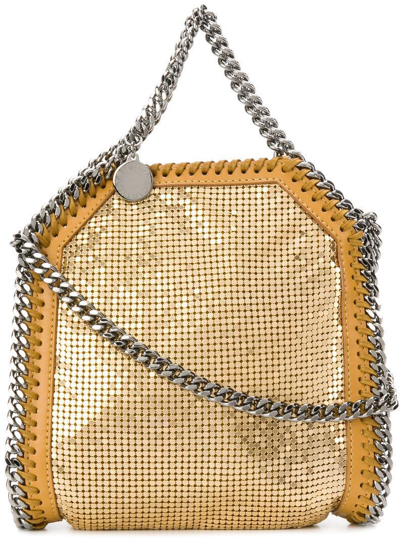 mesh Falabella bag - Yellow & Orange Stella McCartney j3QCsg