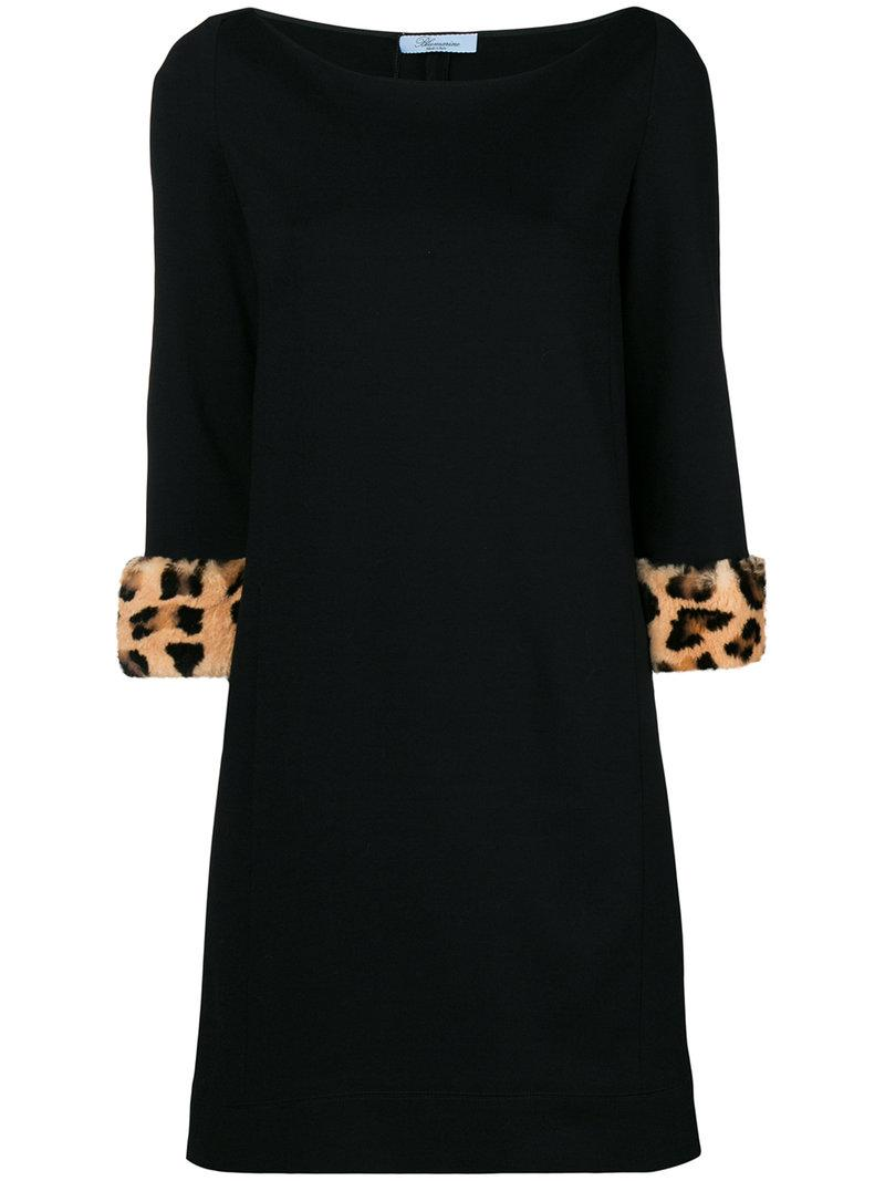 leopard print cuff dress - Red Blumarine 9lHf5uJ4lC