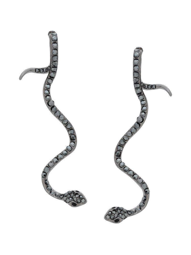 Federica Tosi snake earrings - Metallic 6CMf3DDv