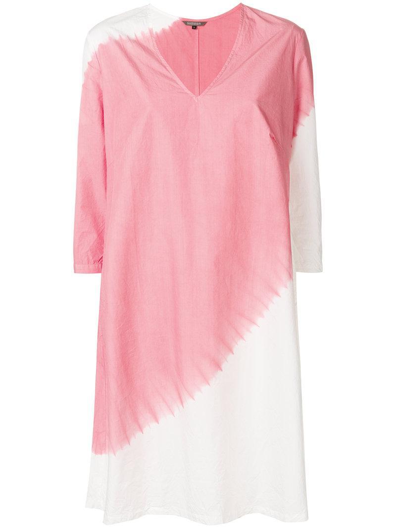 diagonal dyed shift dress - Pink & Purple Suzusan lNjy72