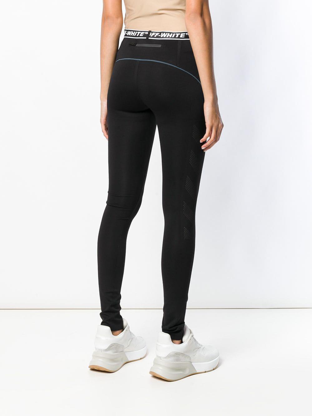 1af96860d176a Off-White c/o Virgil Abloh - Black Logo Waistband leggings - Lyst. View  fullscreen