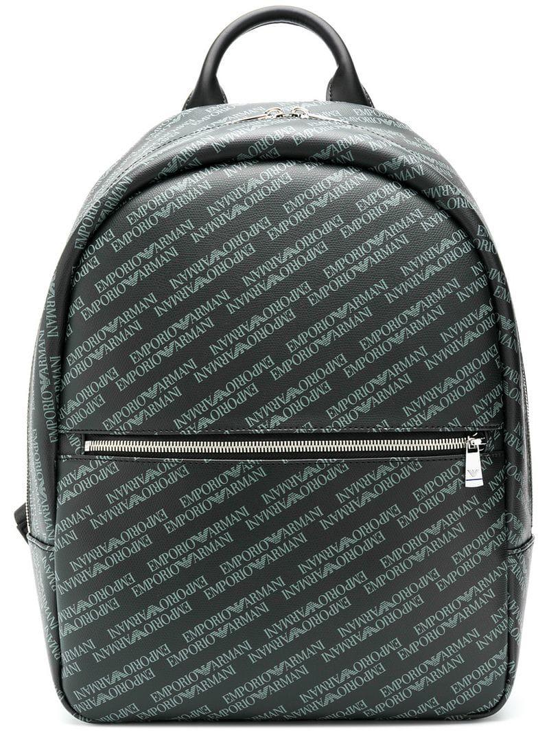 71f39d560250 Emporio Armani Logo Backpack in Black for Men - Lyst