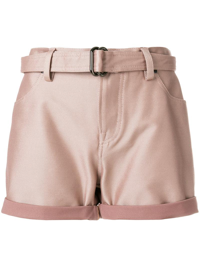 belted high waisted shorts - Pink & Purple Tom Ford