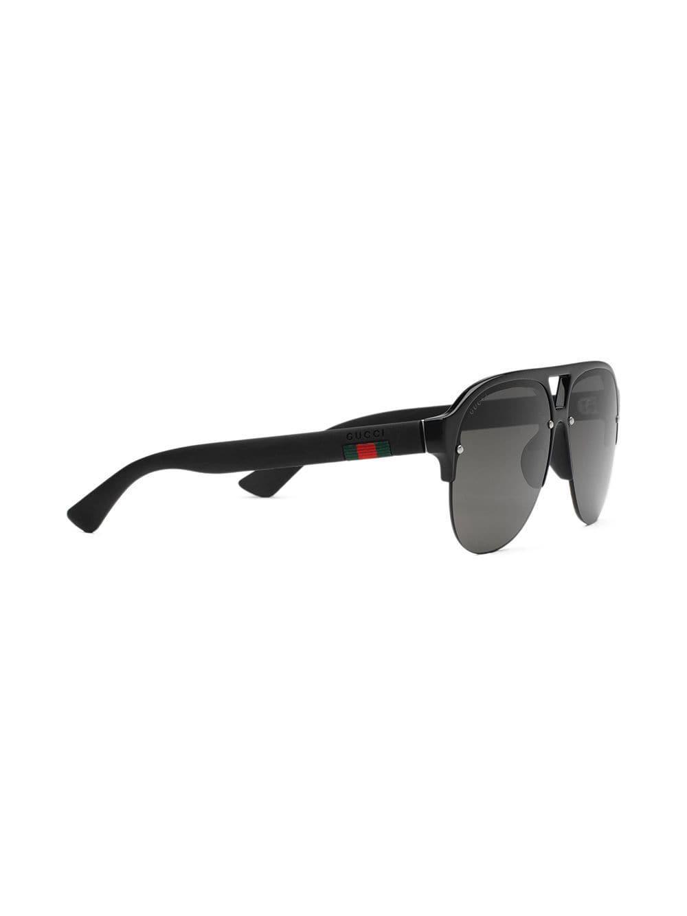 Gucci - Black Lunettes de soleil aviateur en caoutchouc for Men - Lyst.  Afficher en plein écran 55dde074b958