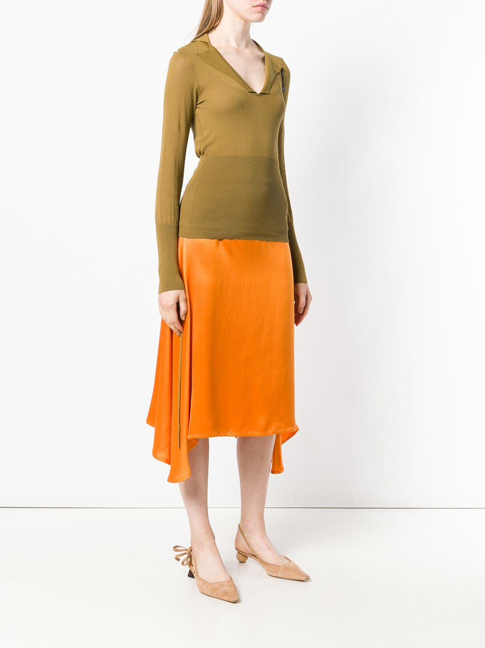 b0fa954bae Jacquemus Plunge Neck Knitted Top in Green - Lyst