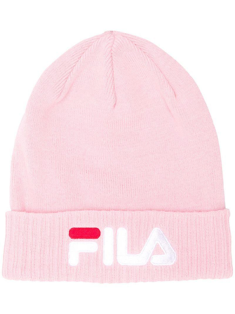 800207c4964 Fila Embroidered Logo Beanie in Pink for Men - Save 51% - Lyst