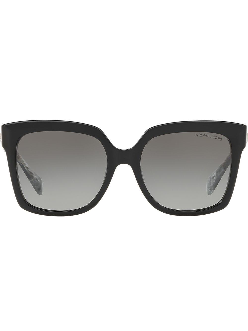 42cd3d7cec11b Michael Kors - Black Oversized Square Shaped Sunglasses - Lyst. View  fullscreen