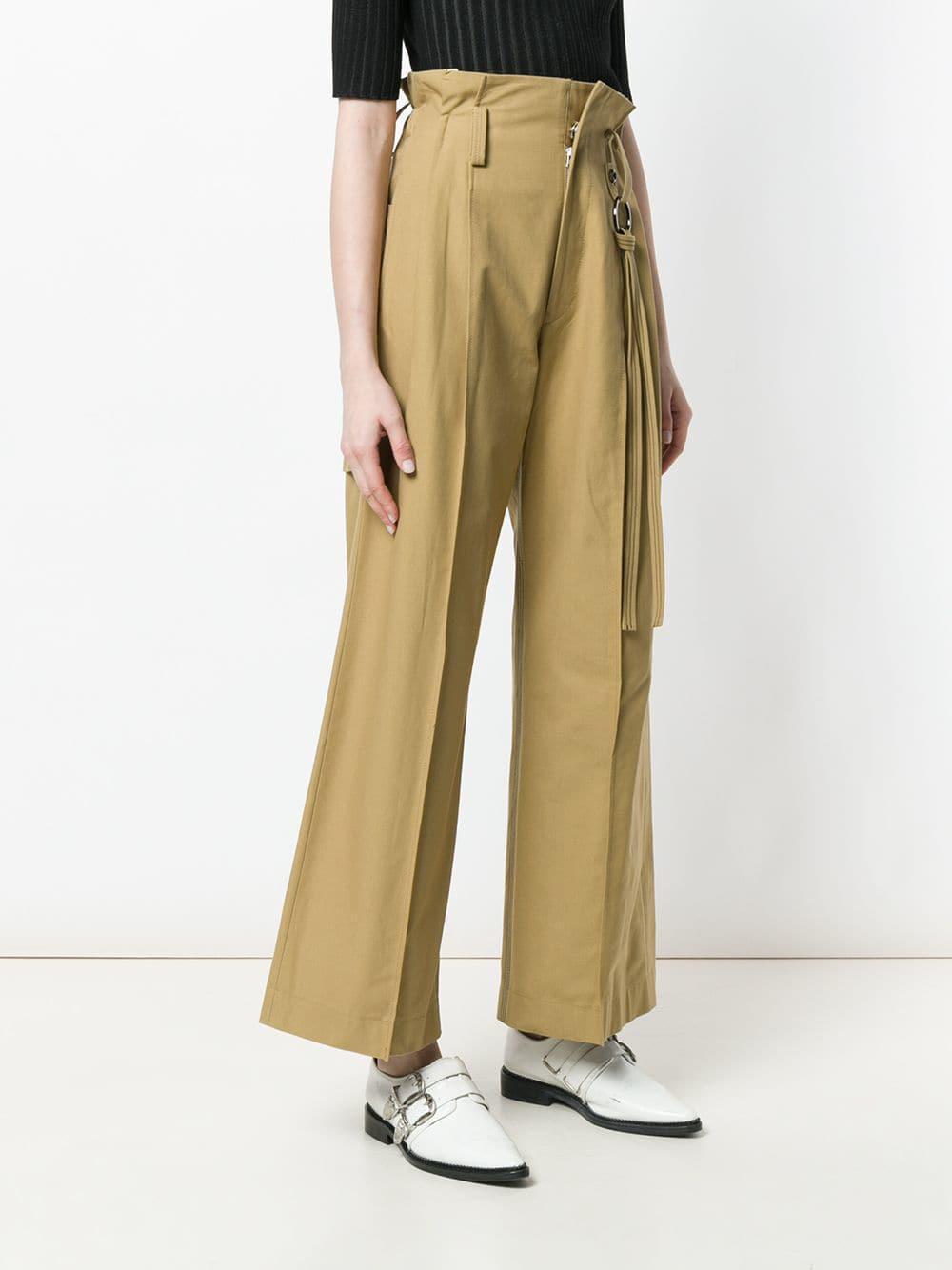 Lyst de pantalones natural anchos Cintura de pierna Ujoh papel Bolsa  0xqwPRW0az 8f5e859995f