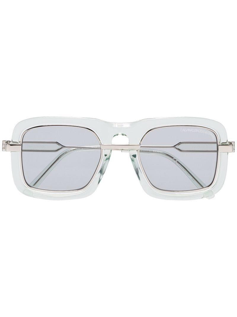 471b0851b2 ... Gafas de sol con montura gruesa y lentes de color for. Ver en pantalla  completa