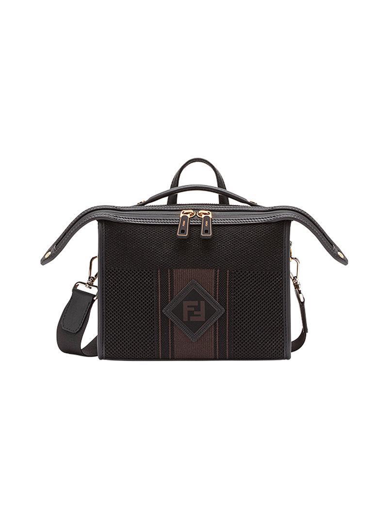 17f59598a04 Lyst - Fendi Ff Logo Messenger Bag in Black for Men