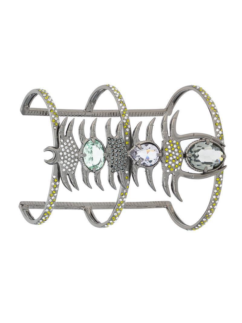 Camila Klein strass embellished bracelet - Metallic 0LDL0Ym