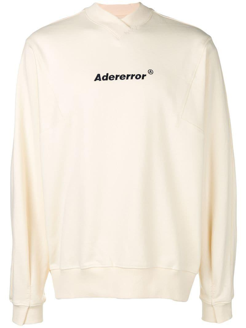 Lyst - Ader Error Oversized Logo Sweatshirt in Natural for Men d8e709e3c