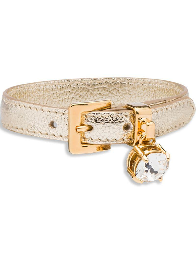 3ba2d3a6cf3 Miu Miu Madras Bracelet in Metallic - Lyst