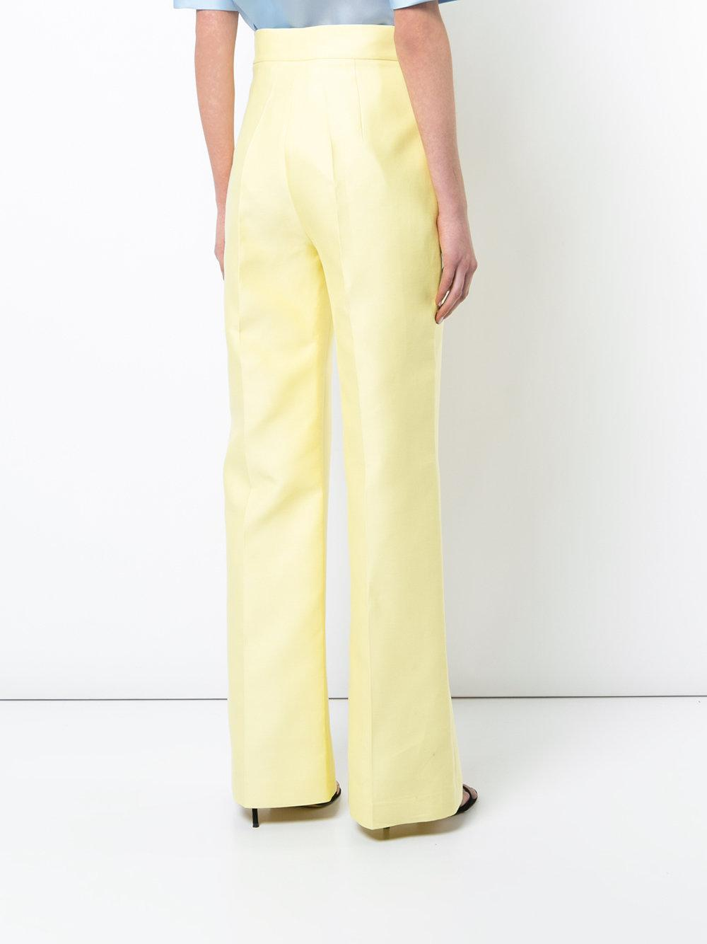 high waist trousers - Yellow & Orange Dice Kayek