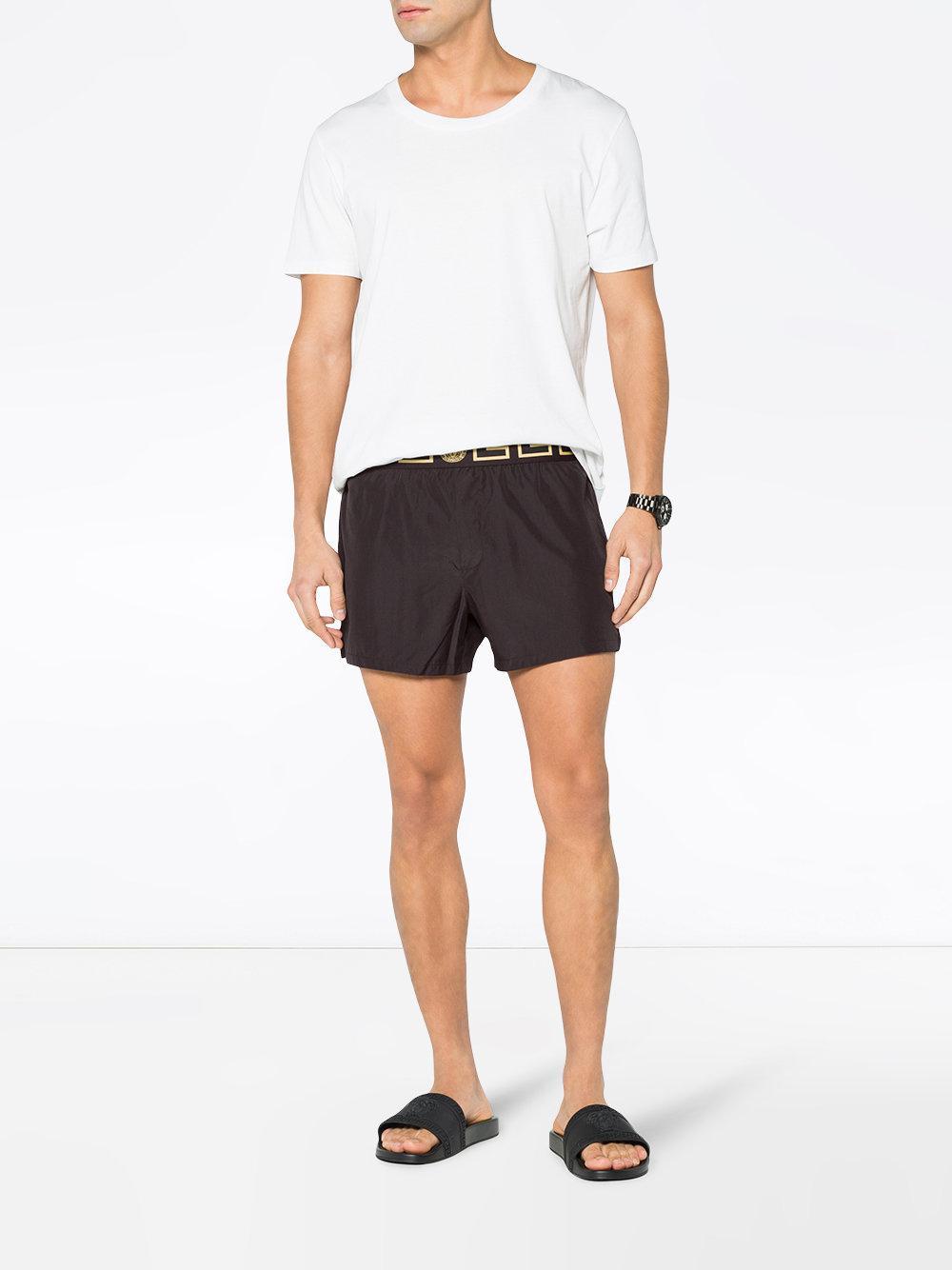 0470e0a2355e9 Versace Medusa Swim Shorts in Black for Men - Save 41% - Lyst