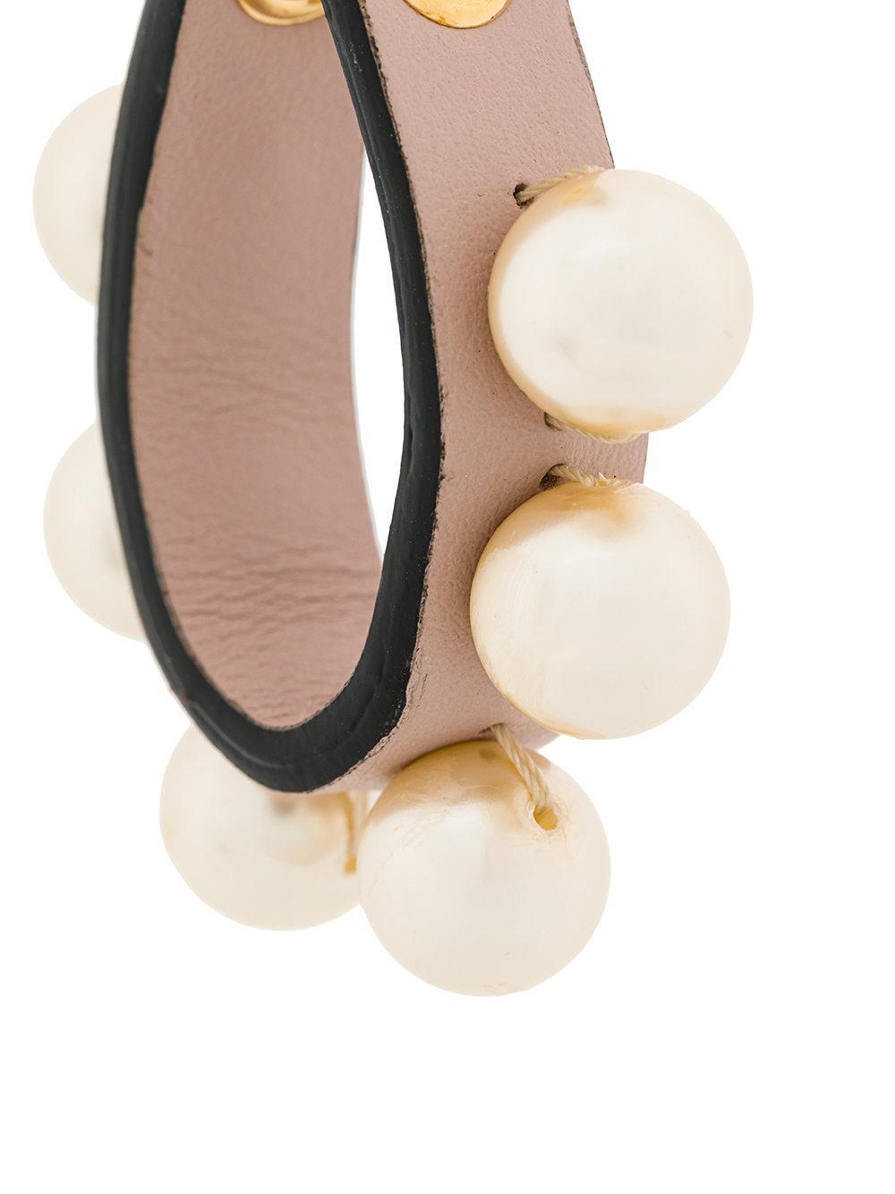 pearl leather earrings - Black Marni xB7DB5P
