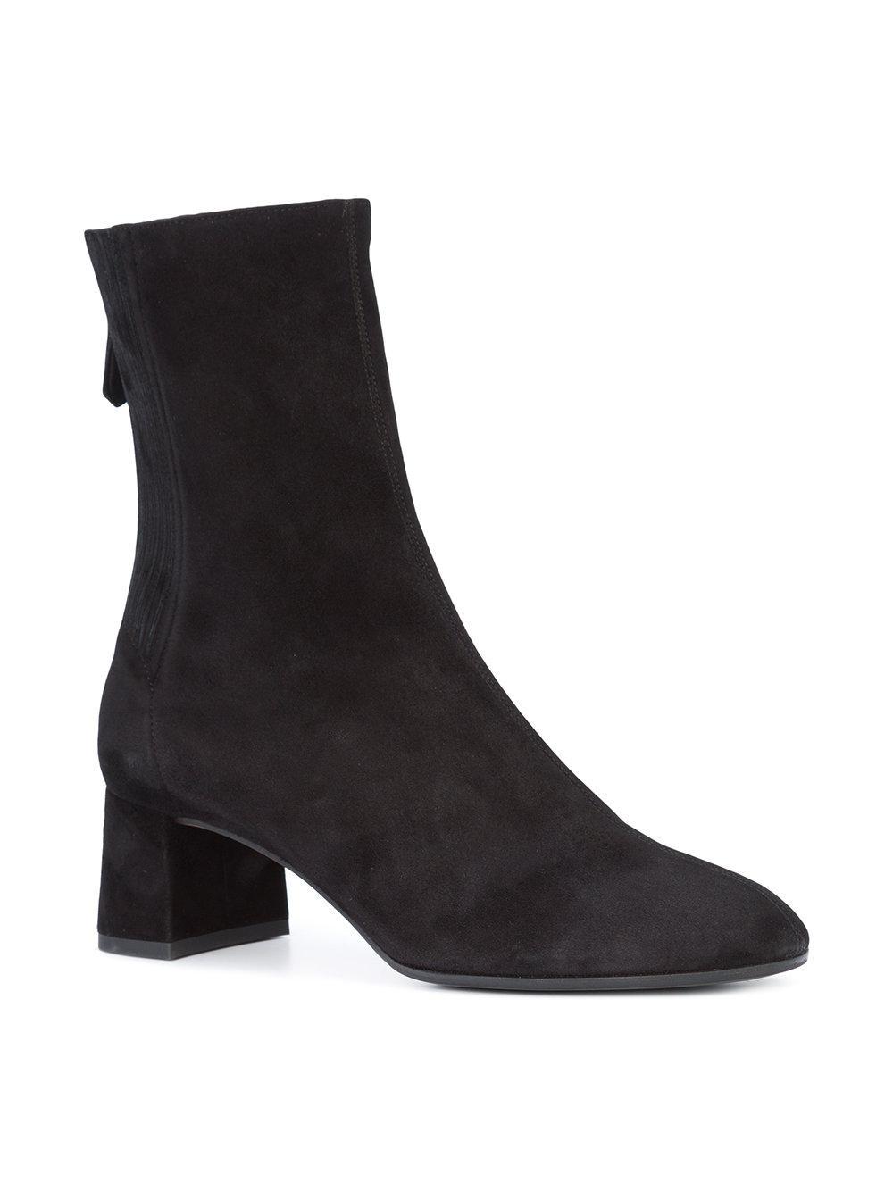 0f5bed47247 Lyst - Aquazzura Mid-calf Block Heel Boots in Black