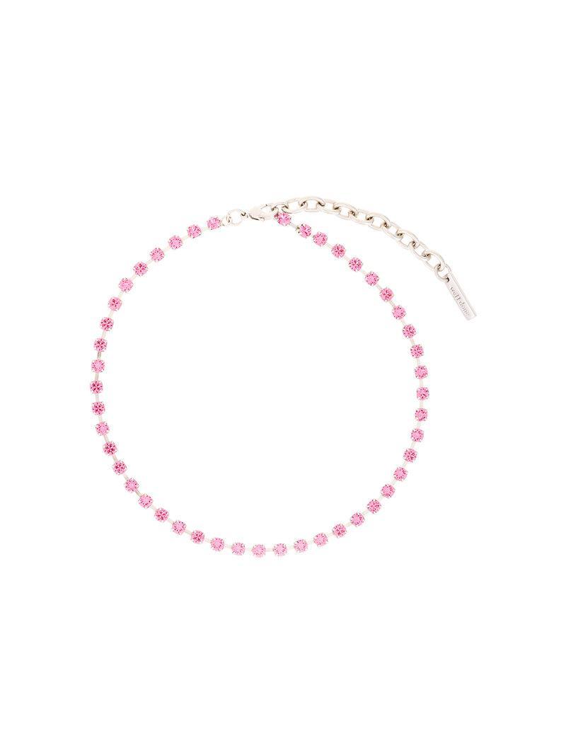 We11done embellished short necklace - Pink & Purple R8MNb6g