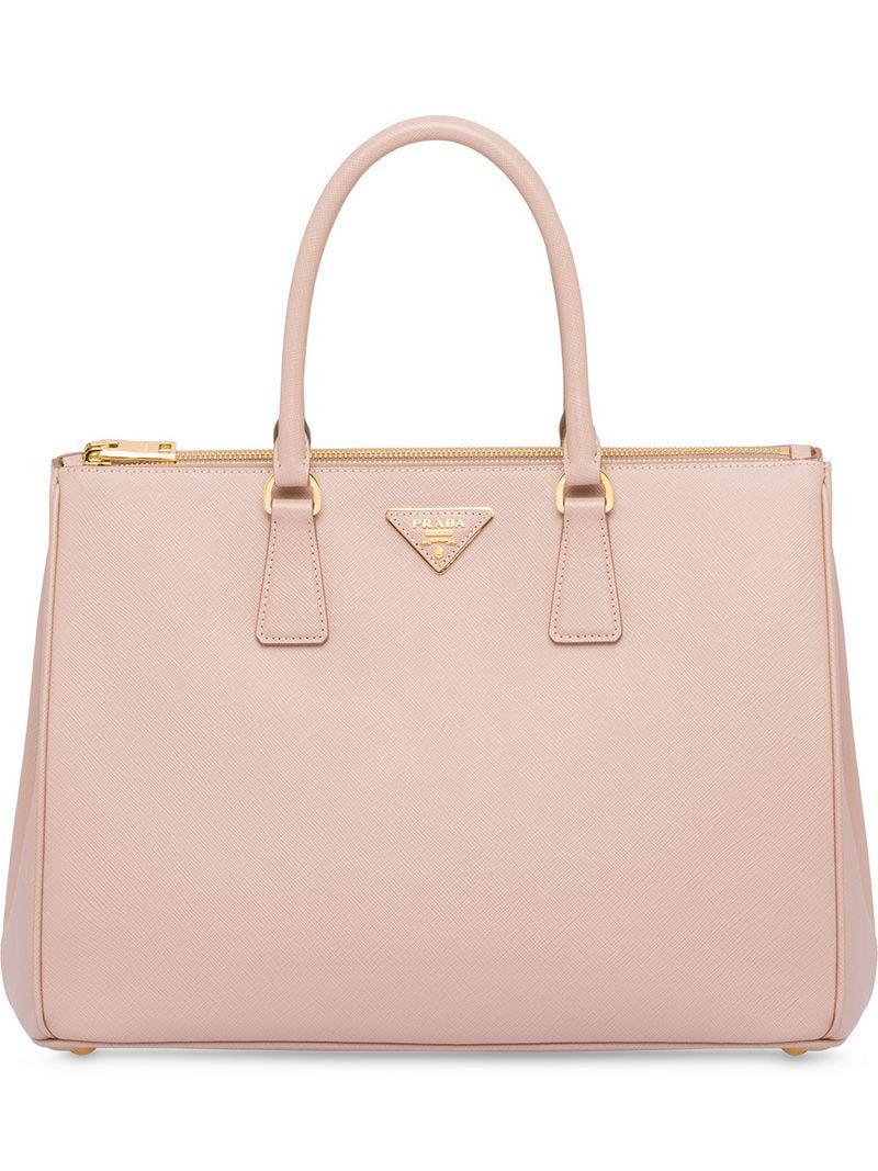 8ff0469b3b85 Prada Galleria Bag in Pink - Lyst