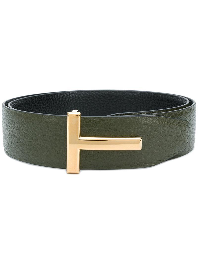 T buckle belt - Green Tom Ford D9okapXKi