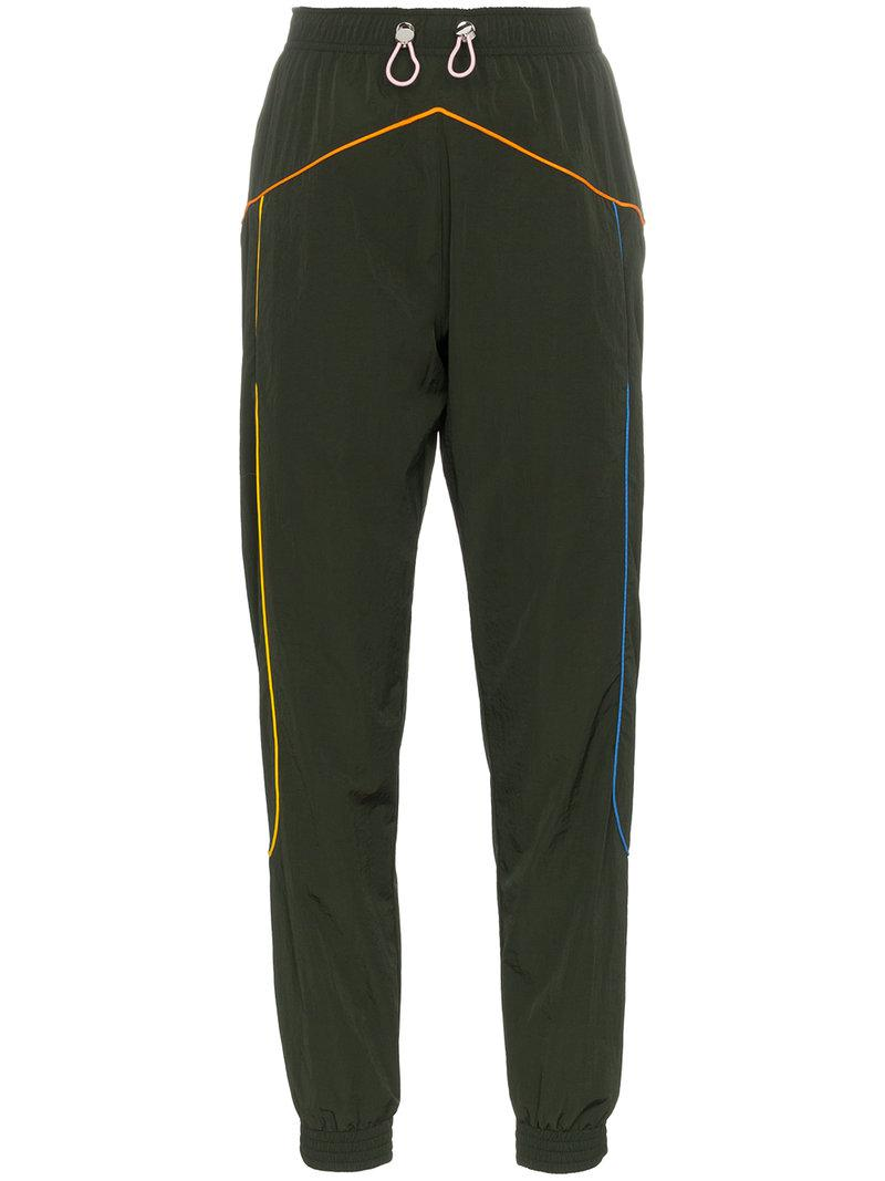multicoloured piping track pants - Green Mira Mikati Comfortable Fashion Style Clearance Visit How Much Cheap Price Discount Supply z3rEMRb3s