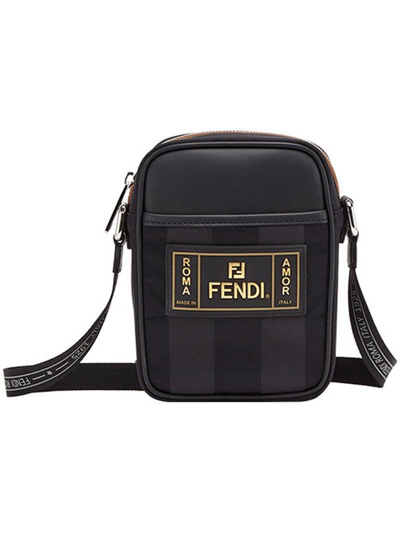 95cd2edb1c29 Fendi Small Messenger in Black for Men - Lyst