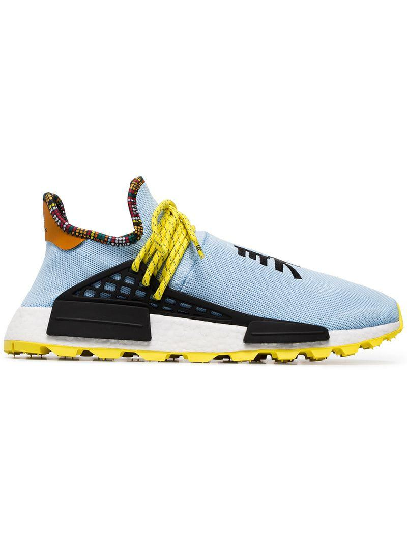3fe5770c7 Adidas Originals - Blue X Pharrell Williams Multicoloured Human Body Nmd  Sneakers for Men - Lyst