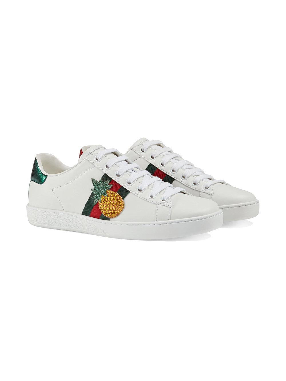 0ea22a14cd4 Lyst - Gucci Ace Embroidered Low-top Sneaker in White
